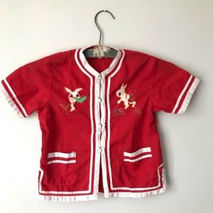 Novelty vintage children's Chinese red top 6x